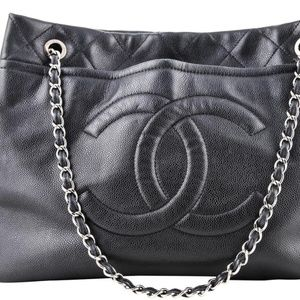 Chanel Caviar Timeless CC Soft Shopping Tote
